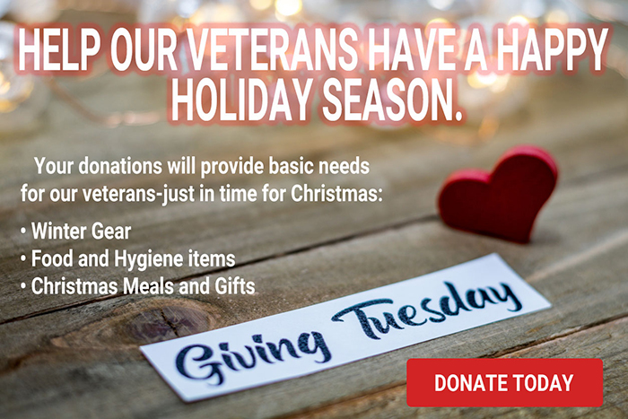 HELP OUR VETERANS HAVE A HAPPY HOLIDAY
